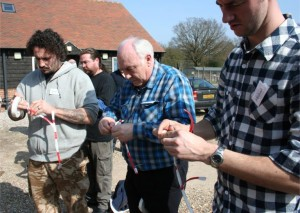 Fusing lesson at the Firework Training School